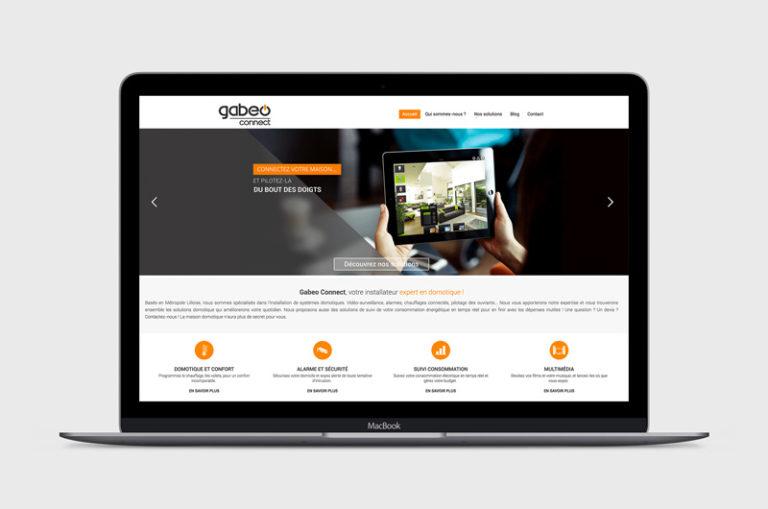 Site web responsive Gabeo Connect - Page d'accueil