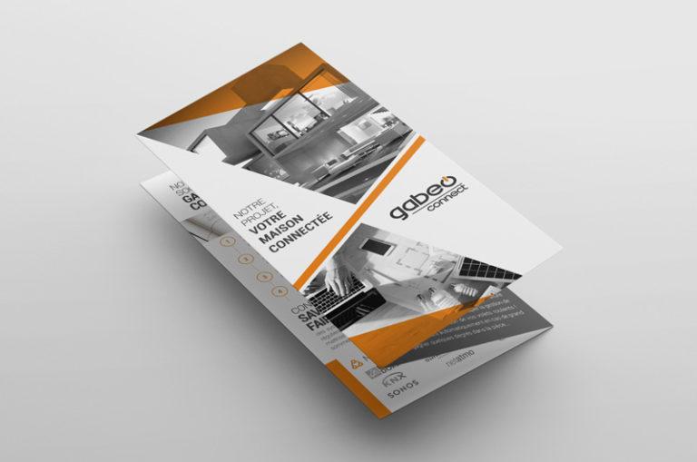 Triptyque de présentation de la société Gabeo Connect